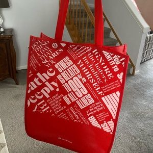 Large red lululemon bag
